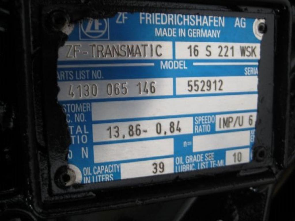 ZF Transmatic 16 S 221 WSK Cambio