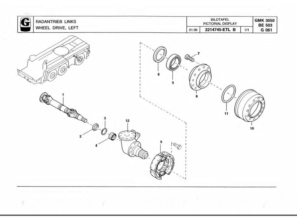 Grove GMK 3050 тормозные части