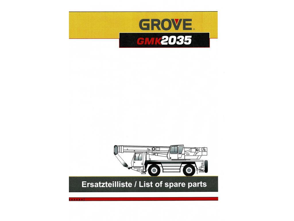 Grove GMK 2035 Dokumantation