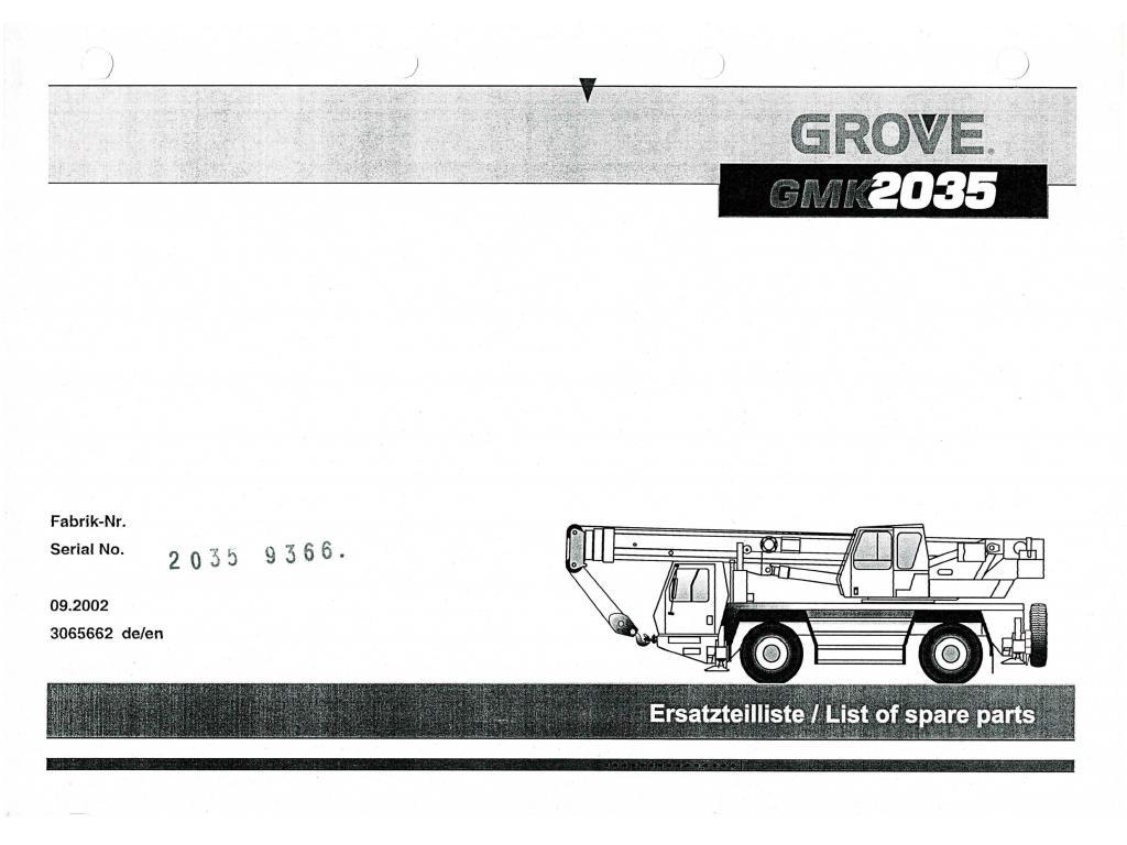 Grove GMK 2035 Перевозчик