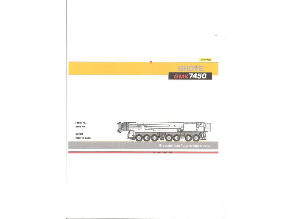 Grove GMK 7450 μεταφορέας