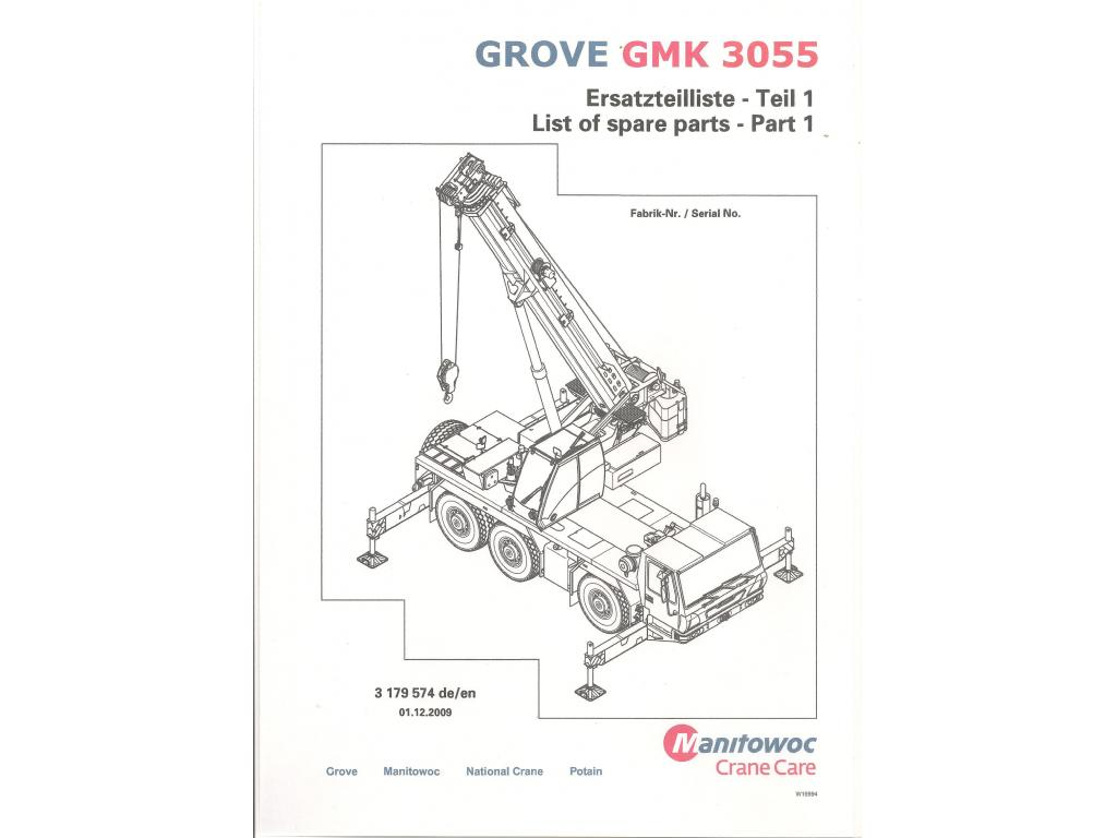 Grove GMK 3055 Dokumantation