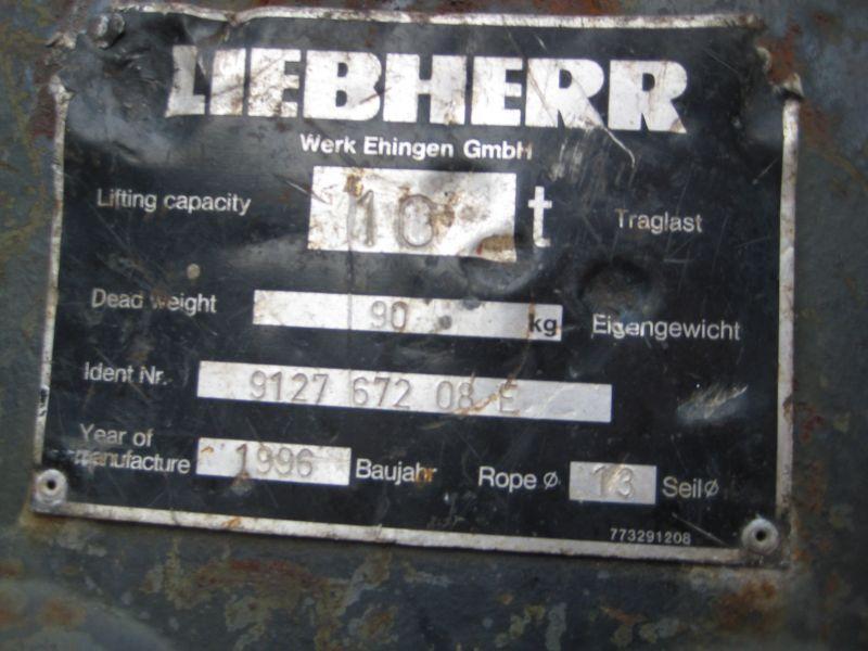 Liebherr 10 Ton άγκιστρο μπλοκ