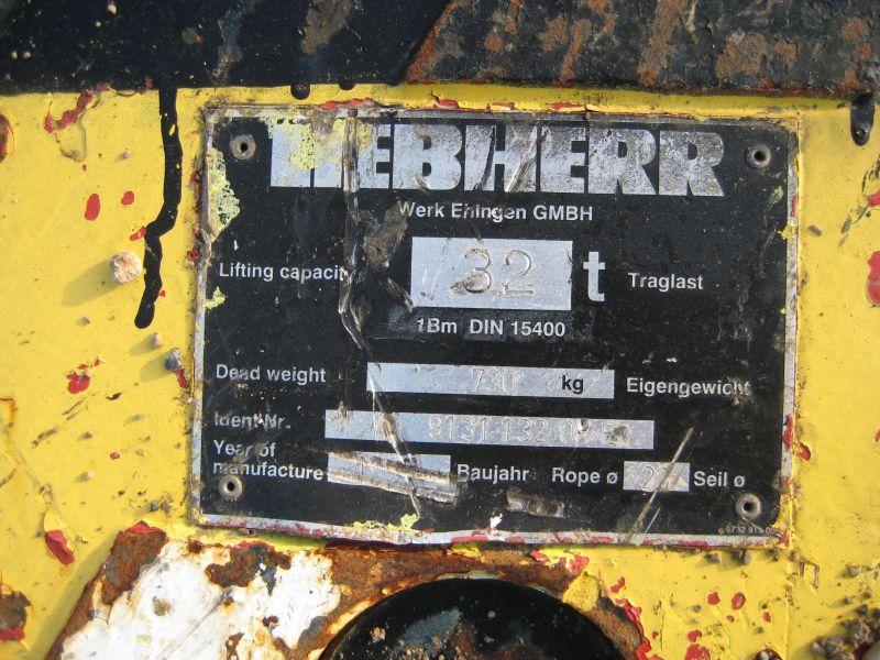 Liebherr 32 Ton Haken/Unterflasche