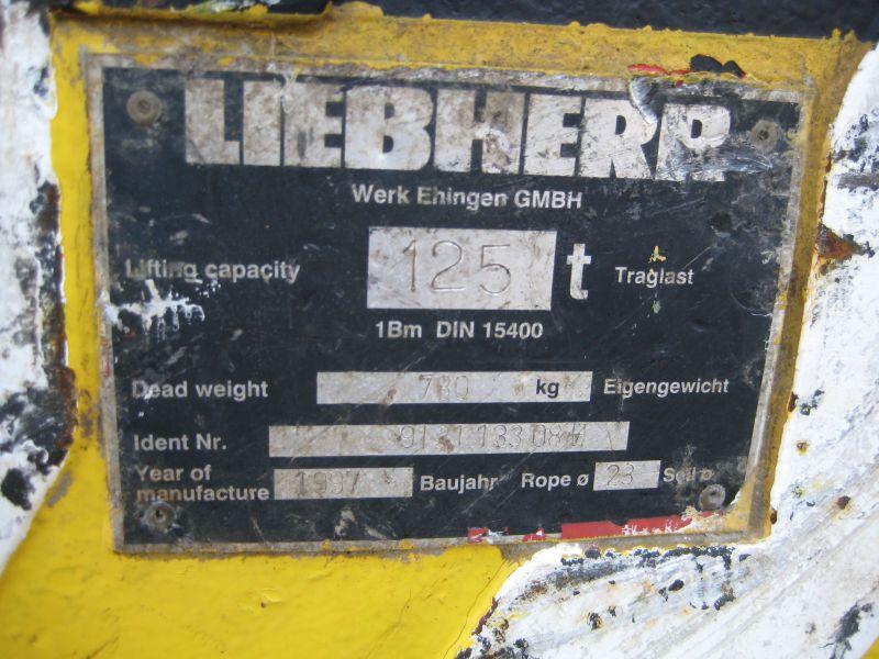 Liebherr 125 Ton krokblock