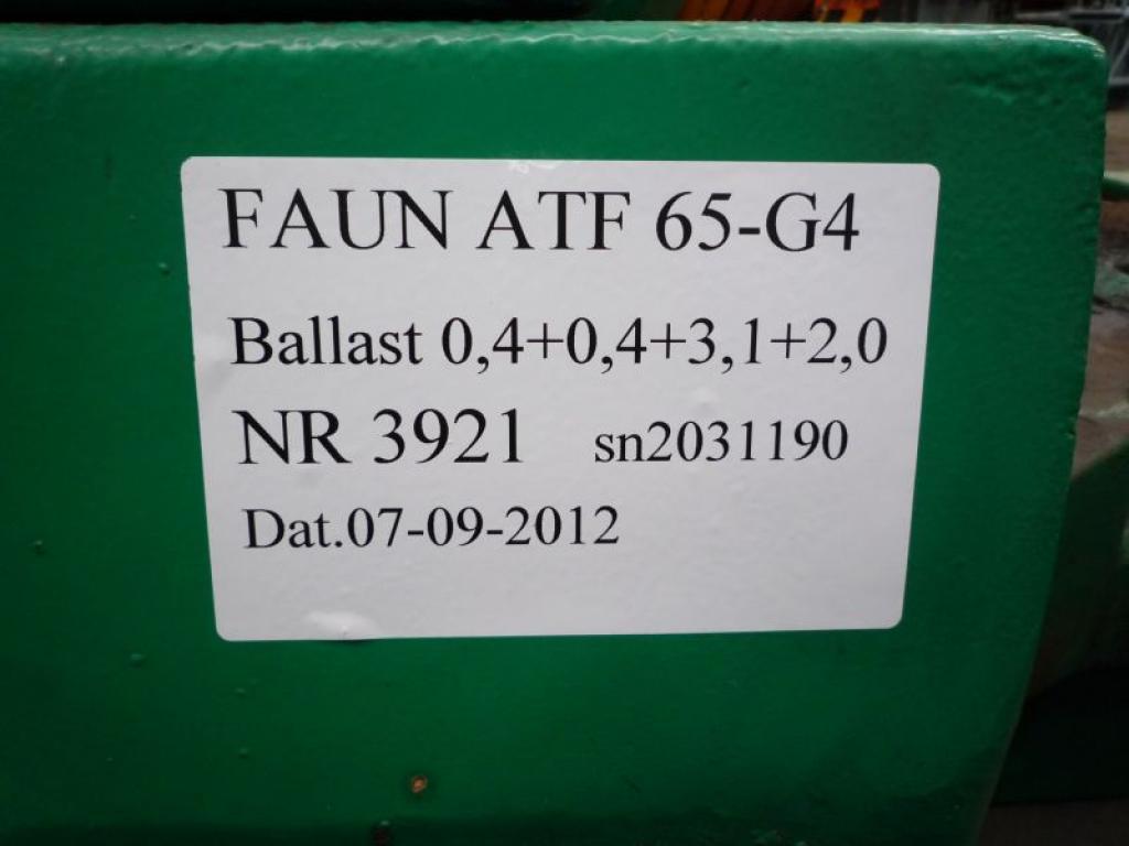 Faun ATF 65-G4 przeciwwaga / obcizniki